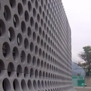 Scuola Media, Gordola, Fassadenaufnahme komplett