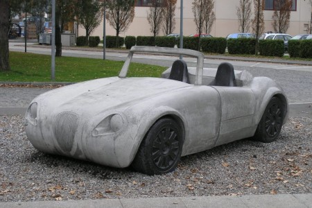 Betonauto Roadster, Frontansicht