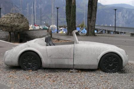 Betonauto Roadster, Seitenansicht