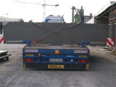 Vorschacht der Trafostation (Überbreite von 4.80 Meter)