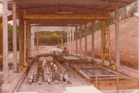 Betonvorfabrikationswerk, Sao Paulo, Ende der 70er Jahre