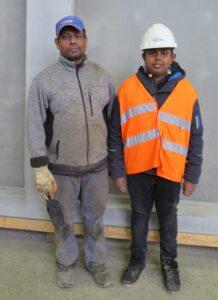 Vater Vici und Sohn Djlan am nationalen Zukunftstag