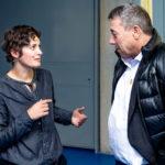 Gastgeberin Stefanie Müller im Gespräch mit Stefan Stüssi.