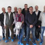 Geladene Gäste auf Besichtigungstour im MFH Opus Vita