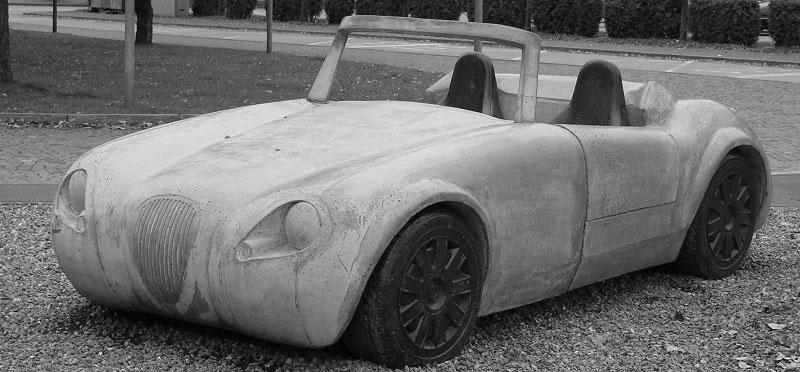 Roadster Betonauto - Spezialanfertigung von STÜSSI