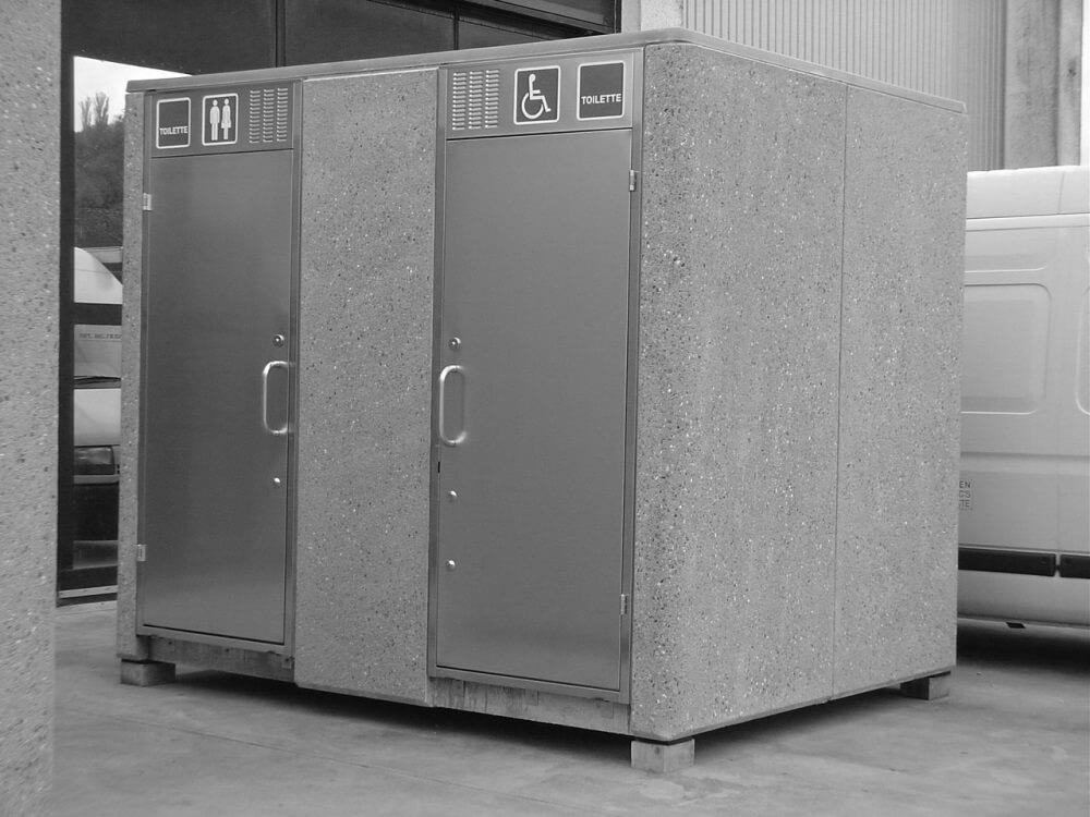 Raumzellen aus Beton eignen sich besonders für Toiletten im öffentlichen Bereich.